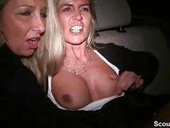 Zwei notgeile milfs ficken im taxi und werden gefilmt movies at kilovideos.com