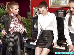 Oiled up classy babes toy assplay with busty piano teacher movies at find-best-videos.com