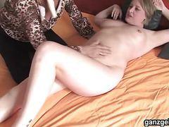 Ganzgeil.com german lesbian milfs licking their shaved twats movies at freelingerie.us