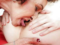 Old lady and her younger lesbian friend movies at find-best-pussy.com