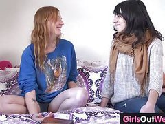 Hairy lesbian ginger and brunette fuck tubes