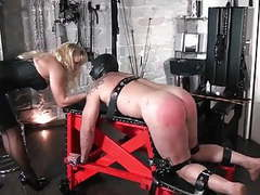 Femdom punishing slave on spanking bench by crop and cane movies at find-best-videos.com