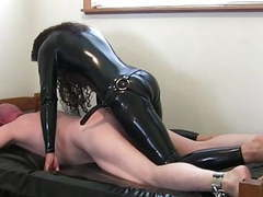 Kinky brunette in latex fucks  dude movies at find-best-lingerie.com