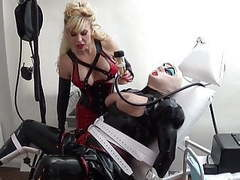 Rubber slut milked in the medical clinic by madame c movies