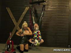 Kinky monicamilf is pegging the dirty clown upside down movies at nastyadult.info