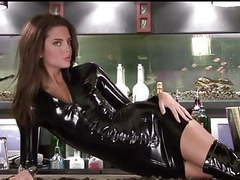 2 lara black latex sleeved dress movies at find-best-hardcore.com
