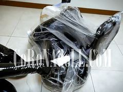 Vacuum bag bondage breath paly rubber leather videos