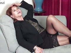 American mature mom strips first and plays with her toy movies at find-best-mature.com