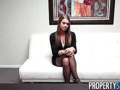 Propertysex - stunning young real estate agent job interview videos