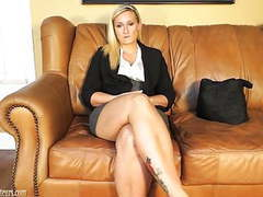Pretty amateur does it all on the casting couch movies at freekilosex.com