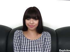 Cute 18 year old latina on casting couch! tubes