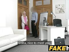 Fake agent hot euro blonde bombshell likes doggy style tubes