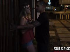 Hippie teen gets brutal pickup and wild sex on the street movies at kilotop.com