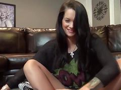Sexy brunette footjob movies at find-best-videos.com