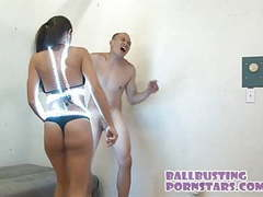Raver girl bikini ballbusting with olivia wilder movies at kilogirls.com