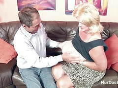 Monster tit granny fucks big dick grandpa in casting videos