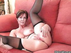 British milf joy exposing her big tits and hot fanny movies