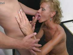 Mature mother sucking and fucking hard young boy movies at freekilosex.com