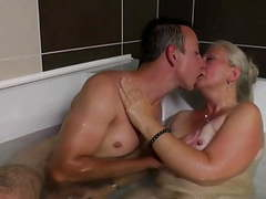 Lovely mature mom gets young cock in her hairy cunt videos