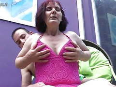 Classy old granny fucking her toy boy movies at freekiloclips.com