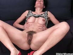 Hairy granny has a wet spot in her panties movies at find-best-lingerie.com