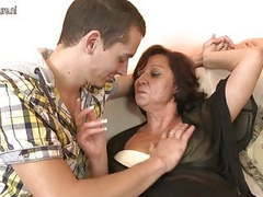 Hot grandmother fucking and sucking young cock movies at freekiloporn.com