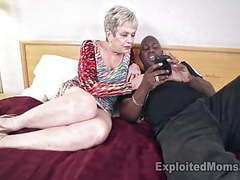 Busty granny in creampie video movies at freekiloporn.com