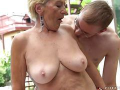 Granny fucks next to a pool movies at find-best-lingerie.com