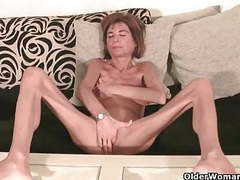 Very skinny granny strips off and masturbates (compilation) movies at find-best-babes.com