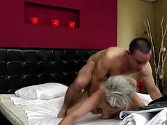Sexy granny takes young cock in hairy vagina videos