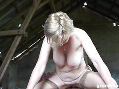 Hot blonde granny sanny fucks her slaveboy grandmams.com movies at kilogirls.com