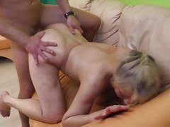 Granny hard fucked by young lover clip