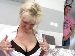 Super mom with big saggy tits takes young cock movies