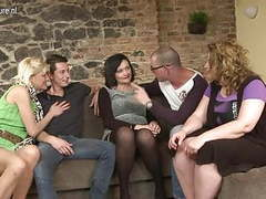 Two guys fucking three mature moms in group sex movies at find-best-lingerie.com