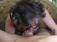 Dirty grandma gets fucked by her toyboy tubes