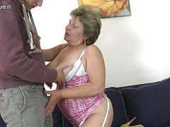 Granny fucking and sucking her young toy boy videos