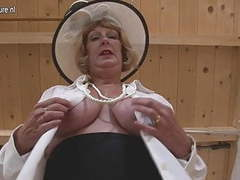 British granny playing with her tits and pussy movies at adipics.com