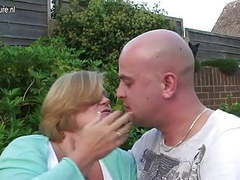 Uk granny fucked by young boy in her garden videos