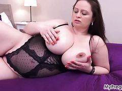 Sirale slowly strips and fucks her hot pussy! movies
