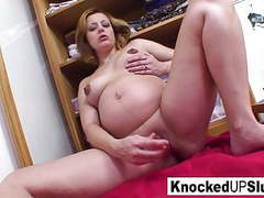 Knocked up blonde fucks herself with a toy movies at find-best-pussy.com