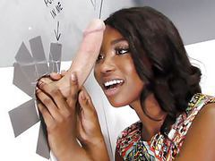 Ebony skyler nicole tries anal with huge cock at gloryhole tubes