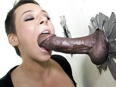 Ariel alexis deepthroats black dick - gloryhole movies