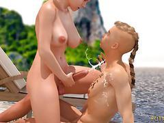 3d futa fucks a guy on the beach. animated 3d porn! movies at nastyadult.info