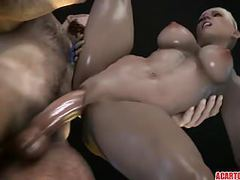 Sexy blonde cassie cage getting pussy drilled well movies at kilovideos.com