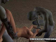 3d babe double teamed outdoors by zombies movies at nastyadult.info