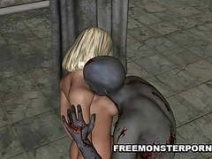 Hot 3d blonde fucked by a zombie movies at kilomatures.com