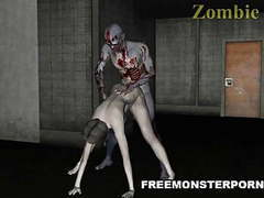 Sexy 3d zombie babe licked and fucked movies