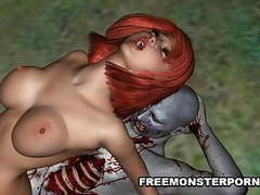 3d redhead fucked outdoors by a zombie movies at freekilopics.com