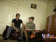Slut stepmom makes her 19 years old son loses his virginity tubes
