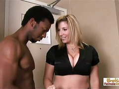 Sarah the apartment manager gets destroyed by two black stud movies at find-best-mature.com